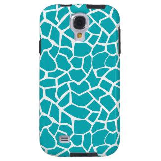 Blue-Green Giraffe Animal Print Galaxy S4 Case