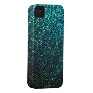Blue/Green Glitter Print Sparkle iPhone Cover iPhone 4 Cases