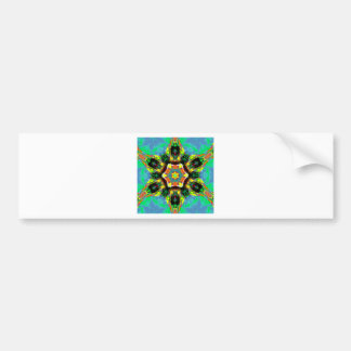 Blue Green Healing Chakra Mandala Meditation Art Bumper Sticker