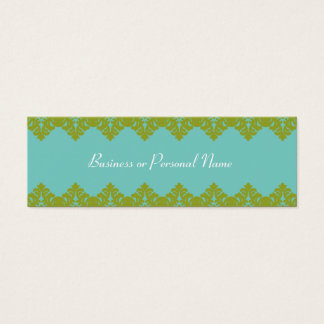 Blue & Green Lace Skinny Card