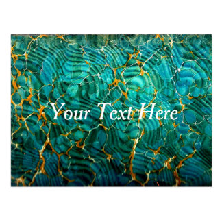 Blue Green Marble Abstract Postcard | Customize
