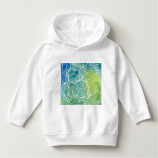 Blue & Green Marble Squiggle Hoodie