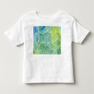Blue & Green Marble Squiggle Toddler T-shirt