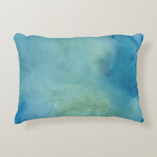 Blue & Green Marble Watercolour Decorative Pillow