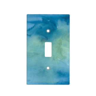 Blue & Green Marble Watercolour Light Switch Cover