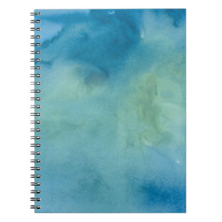 Blue & Green Marble Watercolour Notebook