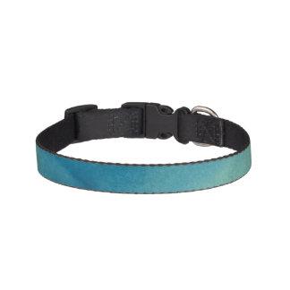 Blue & Green Marble Watercolour Pet Collar