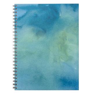 Blue & Green Marble Watercolour Spiral Notebook