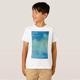 Blue & Green Marble Watercolour T-Shirt