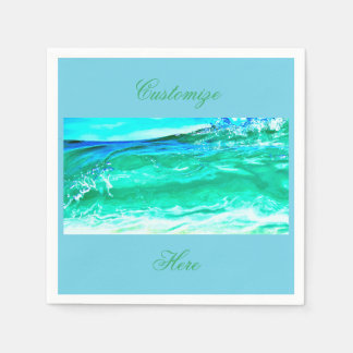 blue/green maui wave Thunder_Cove Paper Napkin
