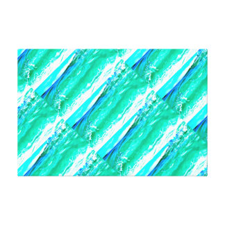 blue-green Maui waves pattern Canvas Print