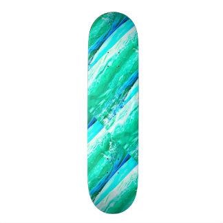 blue/green Maui waves Thunder_Cove Skate Deck