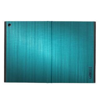 Blue-Green Metallic Design Brushed Aluminum Look iPad Air Case