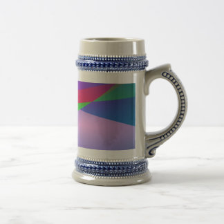 Blue Green Minimalism Abstract Art Coffee Mugs