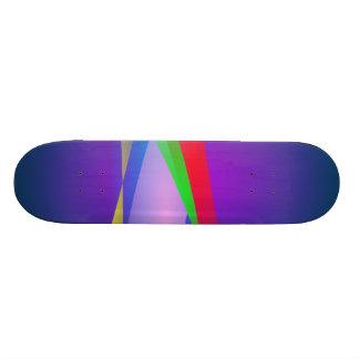 Blue Green Minimalism Abstract Art Skate Board Deck