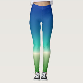 Blue-Green Ocean Gradient Leggings