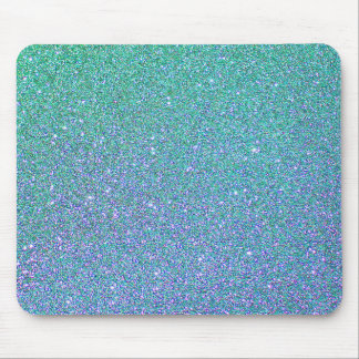 Blue Green Ombre Glitter Background Mouse Pad