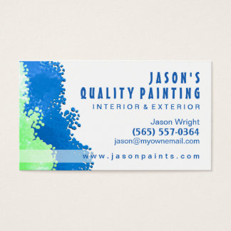 Blue & Green Painter Business Card