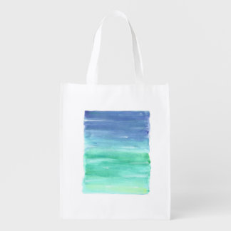 Blue green painting bag