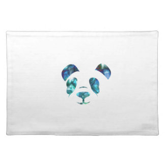 Blue Green Panda Pillowcase Placemat