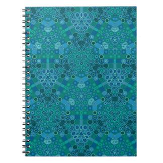 Blue Green Pattern Notebook