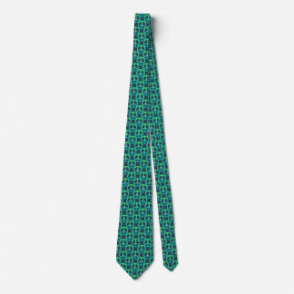 Blue-Green Peace Sign Tie