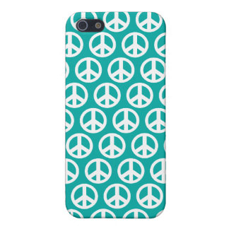 blue green  peace symbol case for iPhone 5/5S
