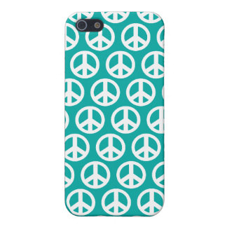 blue green  peace symbol iPhone 5/5S case