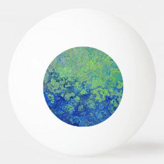 Blue Green Ping Pong Ball