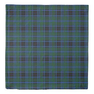 Blue & Green Plaid Duvet Cover