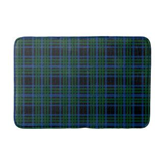 Blue & Green Plaid Print Bath Mat