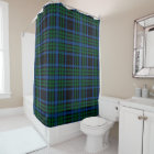 Blue & Green Plaid Shower Curtain