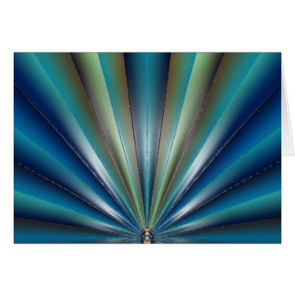 Blue-Green Pleated Design Note/Greeting Card