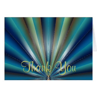 Blue-Green Pleated Design Thank You Card