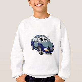 Blue Green Police Car Cartoon Sweatshirt