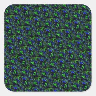 Blue green Psycho sample Square Sticker