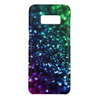 Blue Green Purple Faux  Glitter Psychedelic Case-Mate Samsung Galaxy S8 Case