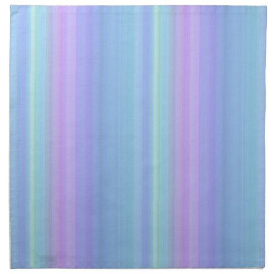 Blue Green Purple Pastel Cloth Dinner Napkins