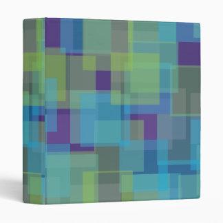 Blue Green Purple Squares Pattern Binder
