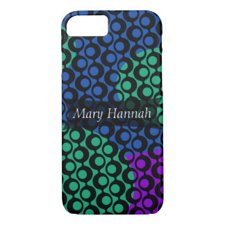 Blue, Green & Raspberry Geometric with Circle Rows iPhone 8/7 Case