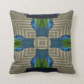 Blue Green Sandstone Hip Modern Pattern Throw Pillow