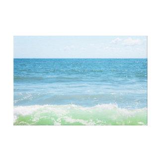 Blue Green Sea Peaceful Waves Canvas Print