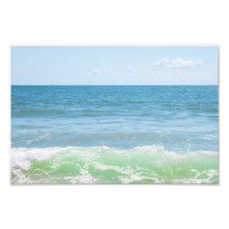 Blue Green Sea Peaceful Waves Photo Art
