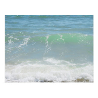 Blue Green Sea Peaceful Waves Postcard
