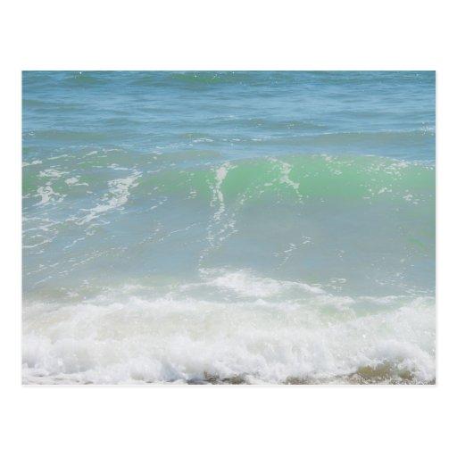 Blue Green Sea Peaceful Waves Post Card