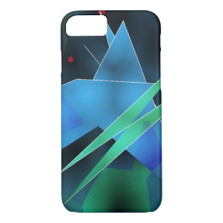 Blue Green Shards iPhone 7 Case