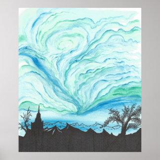 Blue Green Sky Poster