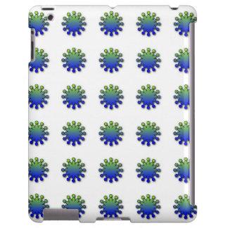 Blue Green Splash iPad case