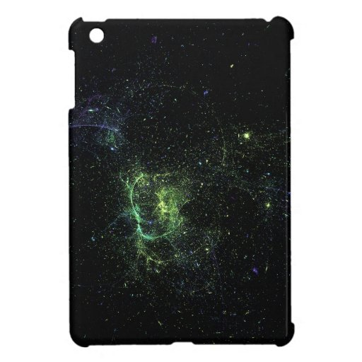 blue green starsfield iPad mini cases