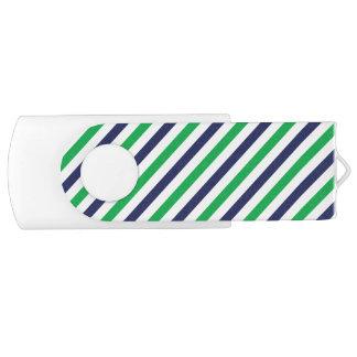 Blue & Green Stripe 8 GB USB USB Flash Drive